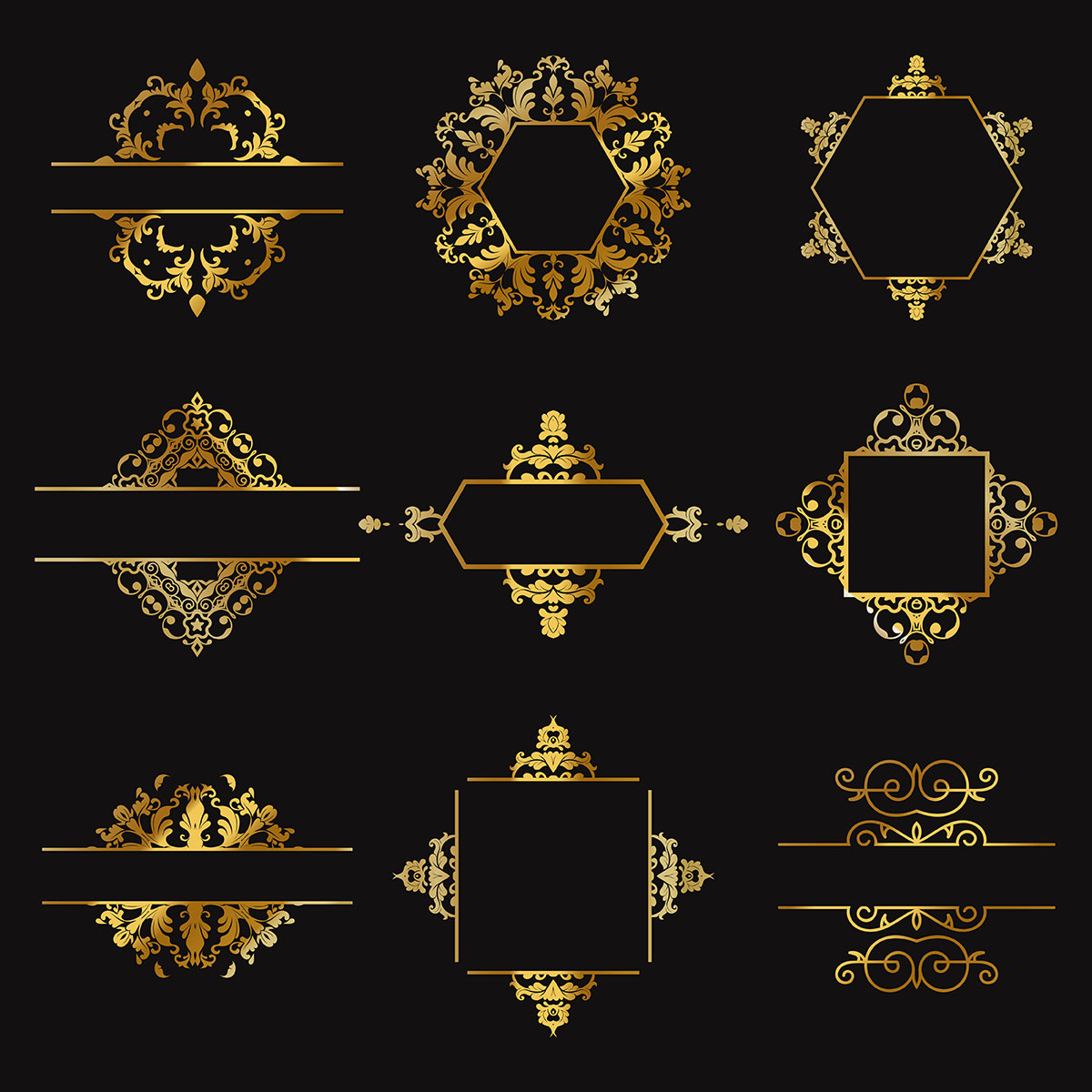 gold designs free vector art
