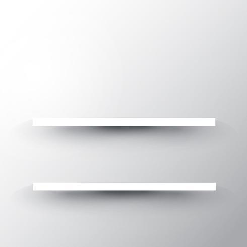 Shelves on white background