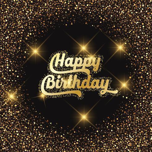 Herzlichen Glückwunsch zum Geburtstag Glitzer Hintergrund