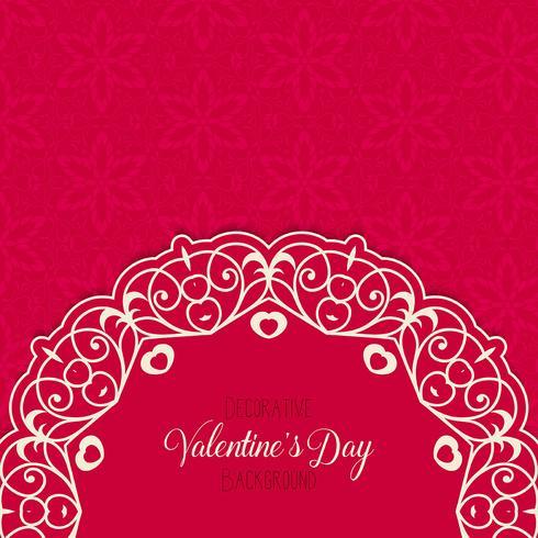 Fondo decorativo de San Valentín vector