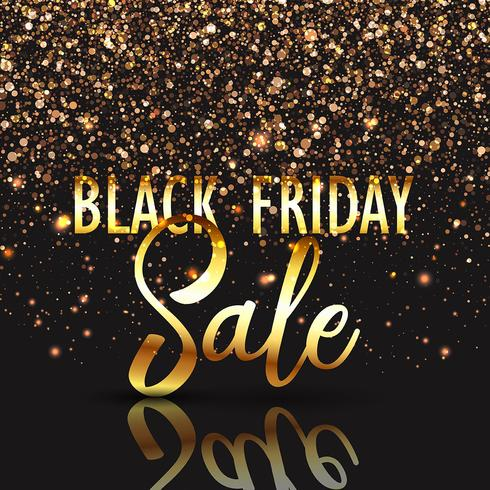 Black Friday gold confetti background