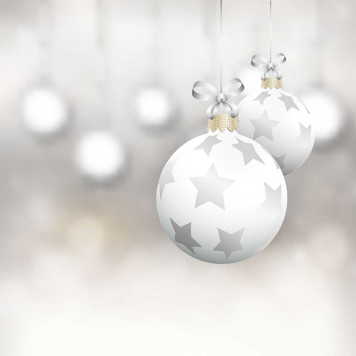 Christmas baubles background - Download Free Vectors ...
