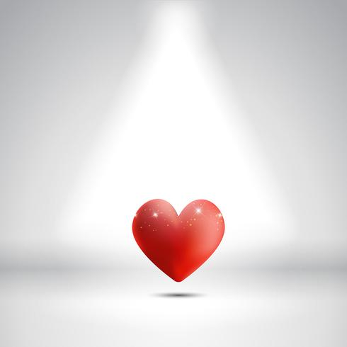 Heart under a spotlight
