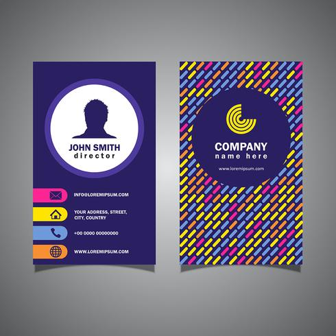 Patterned business card