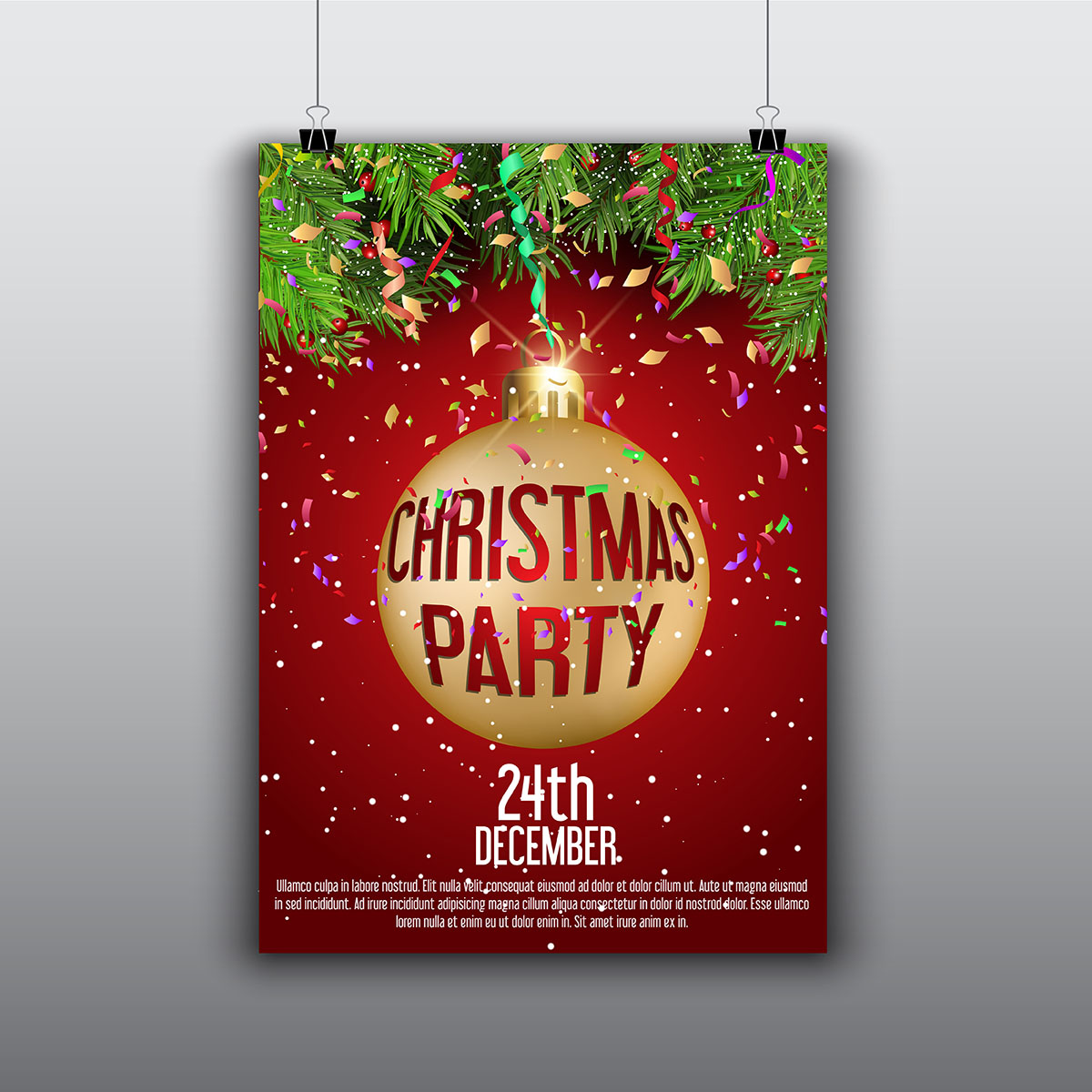 christmas flyer free vector art 12563 free downloads