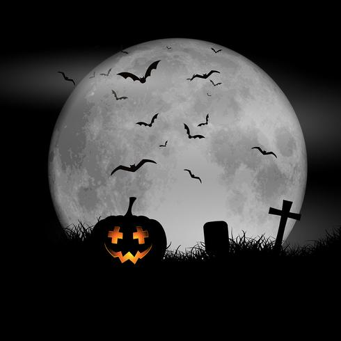 Halloween moon background