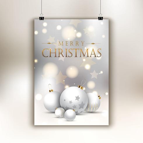 Kerst flyer achtergrond