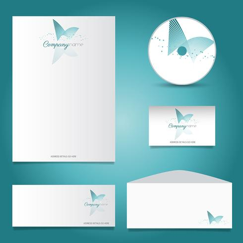 Decorative stationery mock up