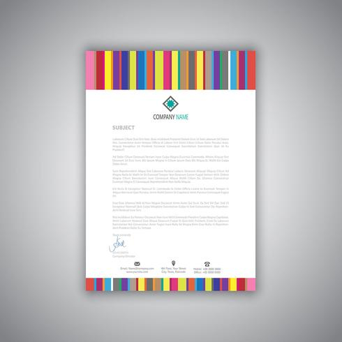 Business letterhead with stripes design
