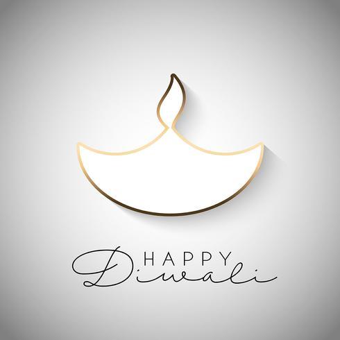 Minimilistic Diwali background