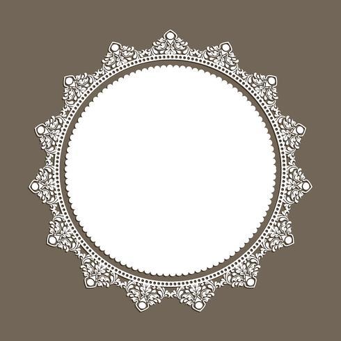 Decorative lace style border
