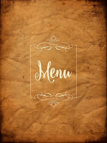 Decorative grunge menu background