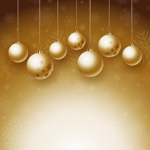 Christmas baubles background