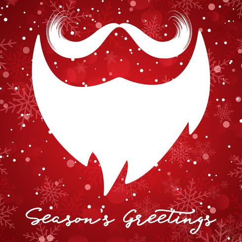 Christmas background with santa beard