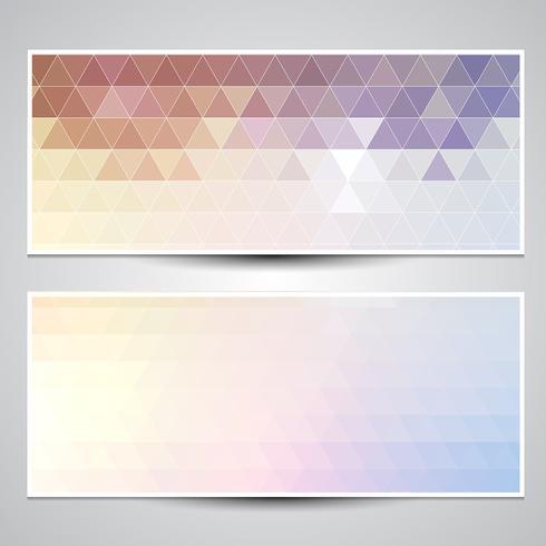 Geometric banners