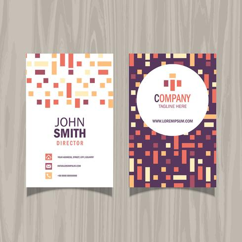 Modern pattern business card design