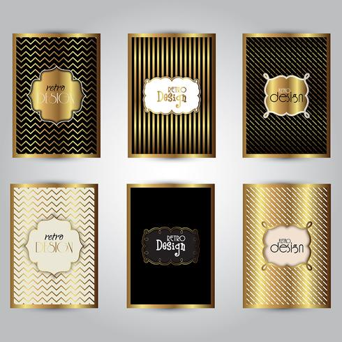 Gold stylish brochure templates