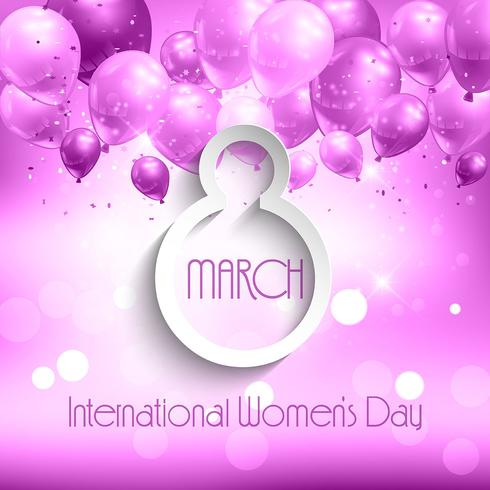 Balloons women's day background
