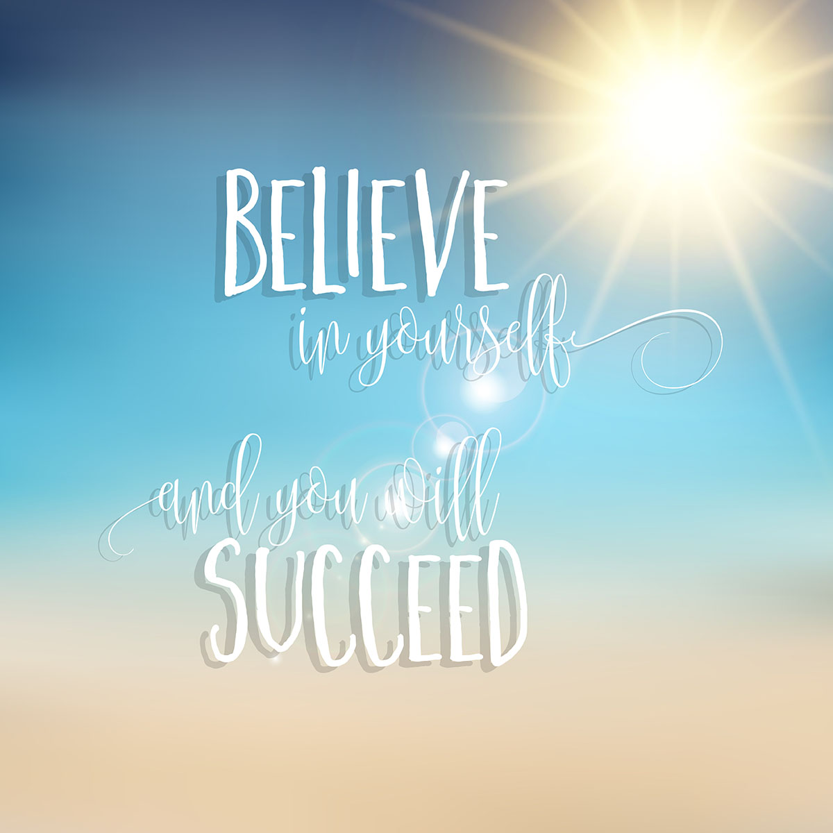Believe In Yourself Inspirational Quote Background Download Free