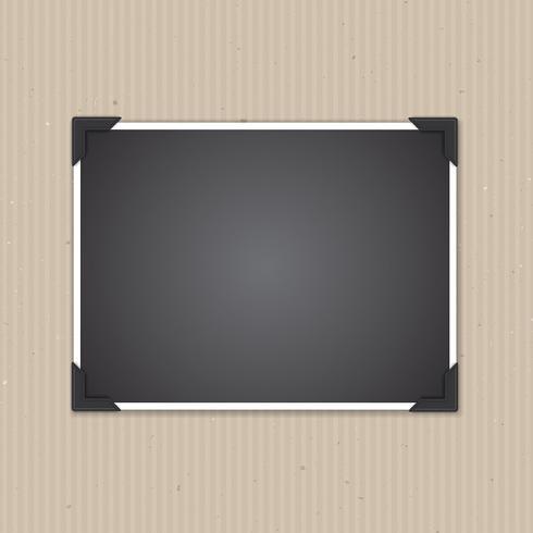 Leerer Fotorahmen auf Pappbeschaffenheit