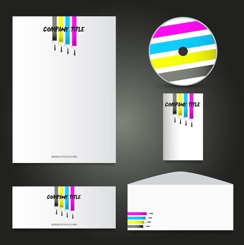 Schilders zakelijke briefpapier mock-up