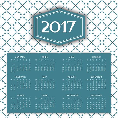 Pattern calendar background