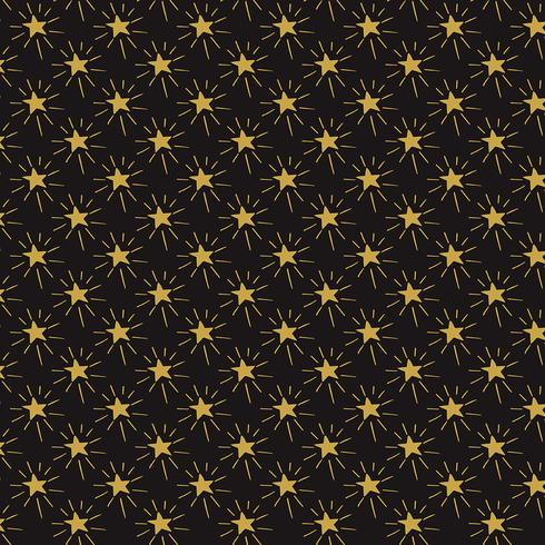 Background of hand drawn stars