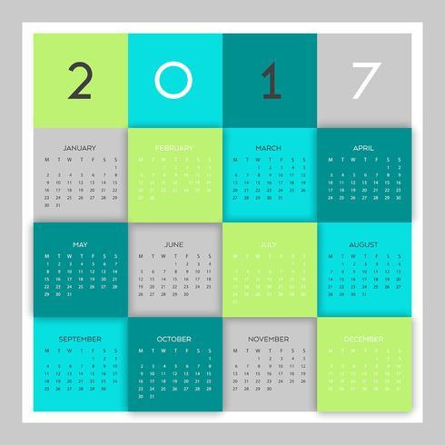 Modern kalenderontwerp