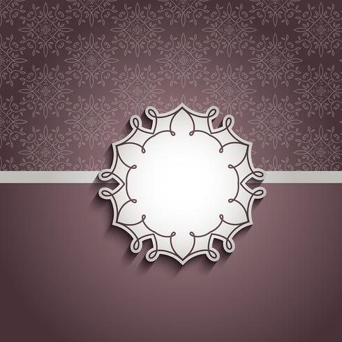 Decorative background with blank label