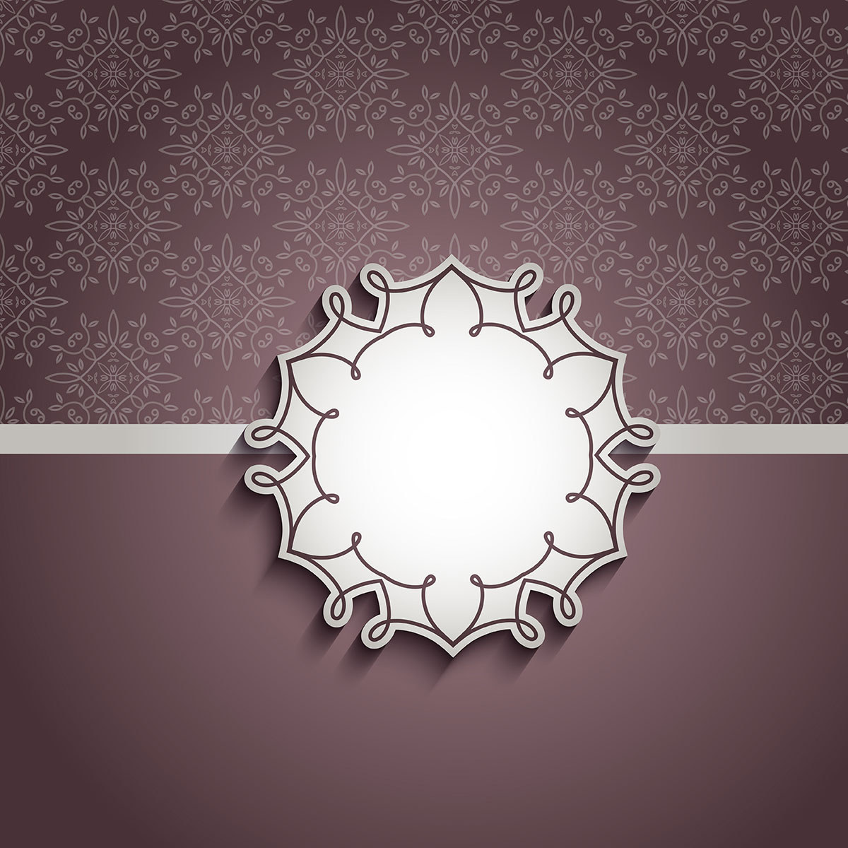 Decorative Background With Blank Label 210308