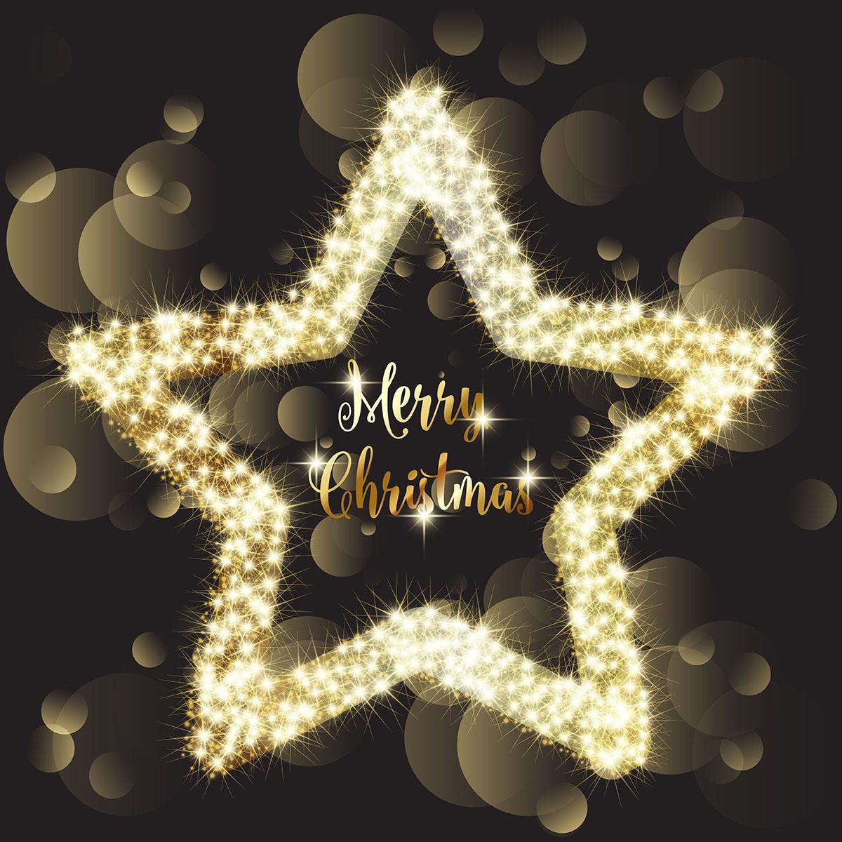 christmas sparkle star