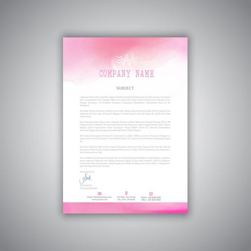 Letterhead with watercolour design