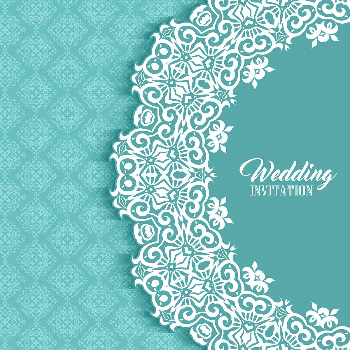 decorative invitation background  download free vectors
