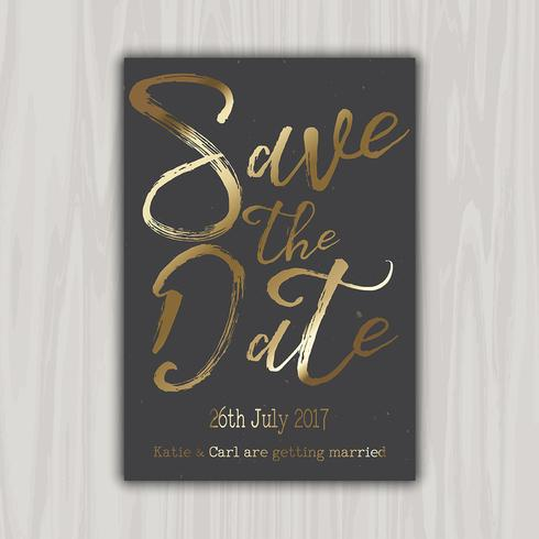 Decorative save the date invitation