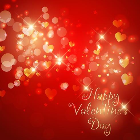 Sparkle Valentine's Day background  vector