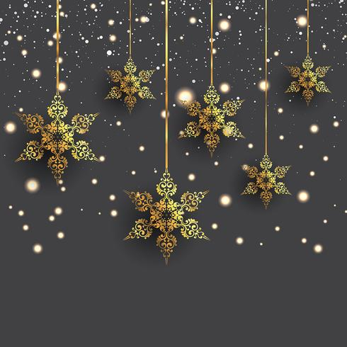 Decorative hanging snowflakes