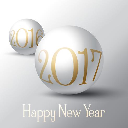 Happy New Year background with sphere design