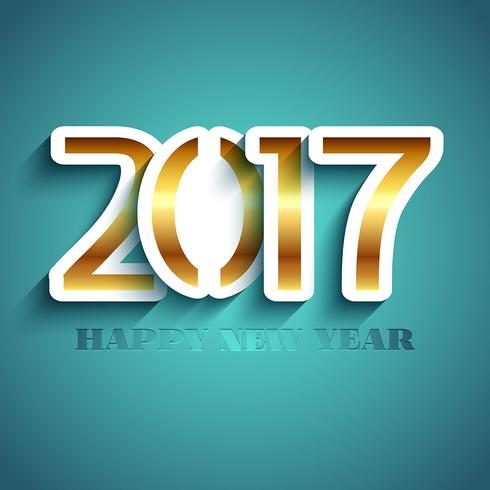 Typography New Year background design