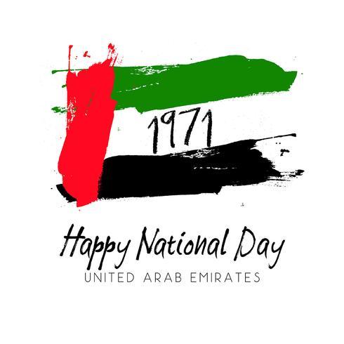 Grunge style image for UAE National Day
