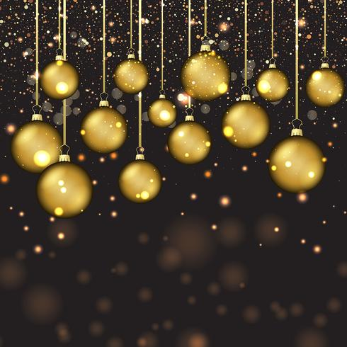 babioles d'or de Noël