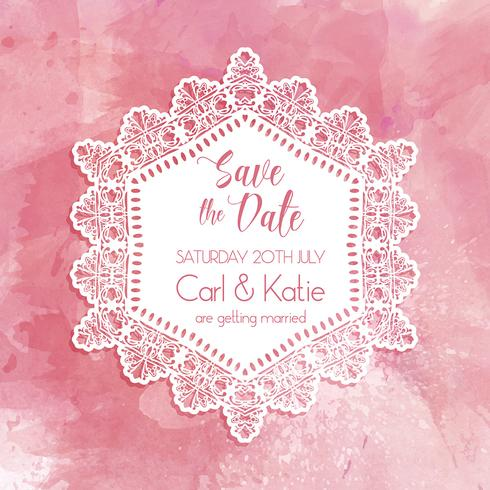 Save the date watercolor invitation