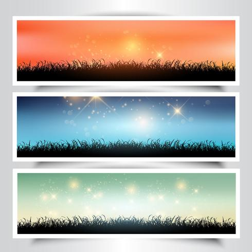 Grassy landscape banners