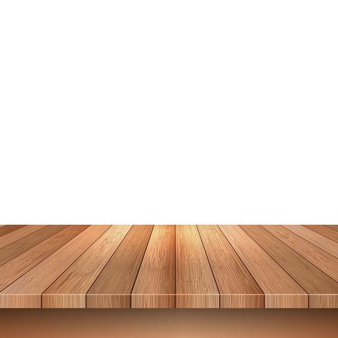 Wooden decking on white background