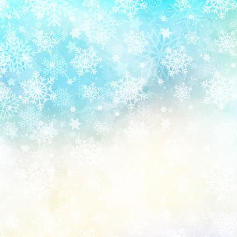 Watercolor snowflake background