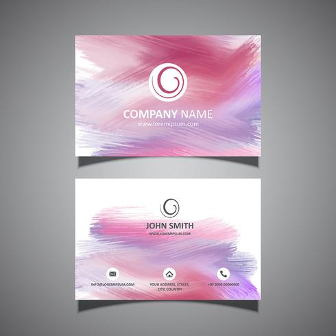 Business card with paint strokes design