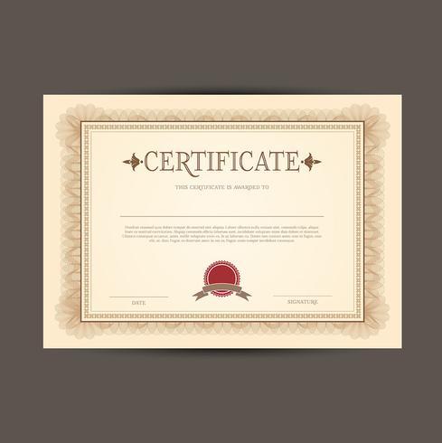 Fond de conception de certificat