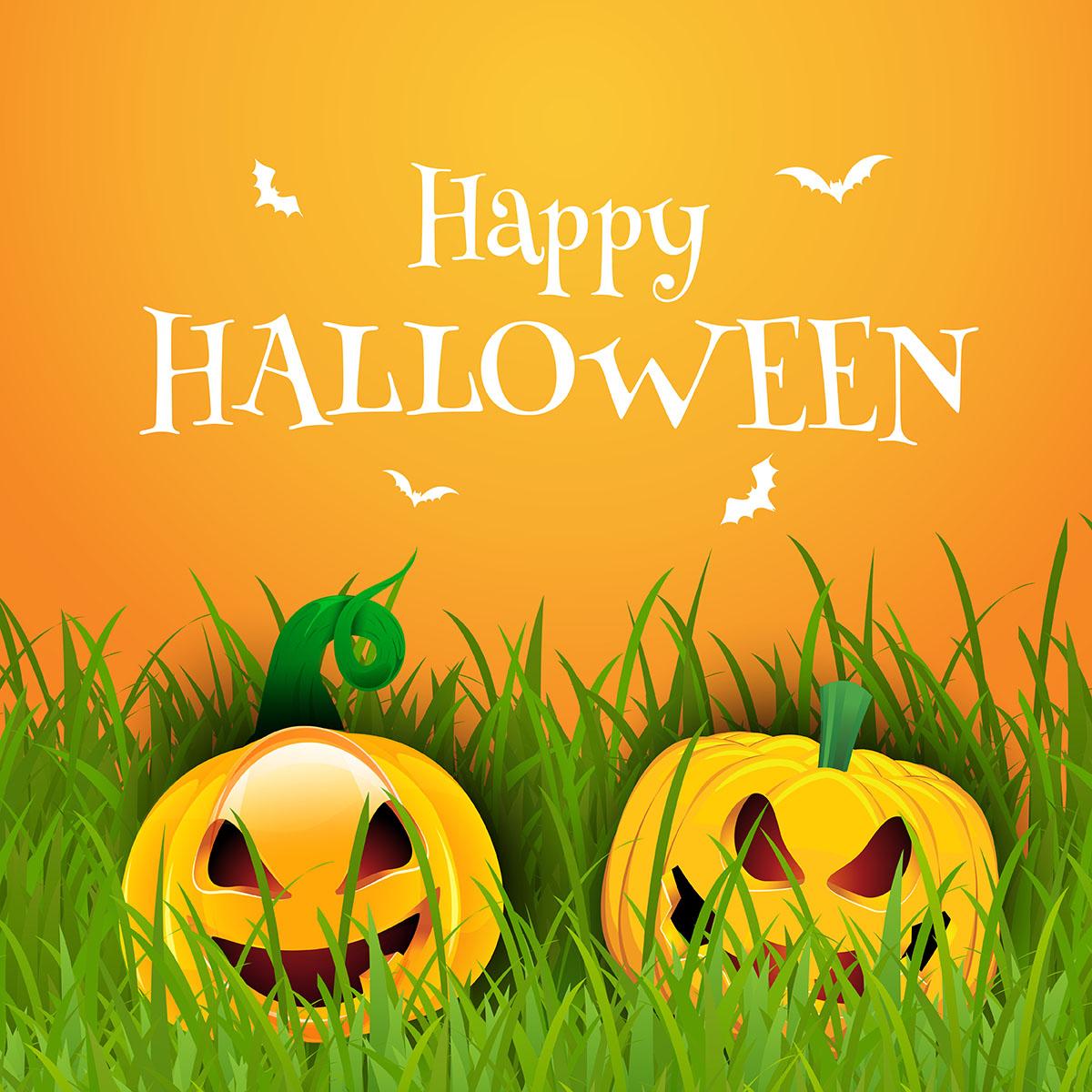 Happy Halloween Background With Pumpkins Download Free