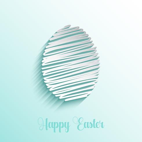 Scribble style Easter egg background