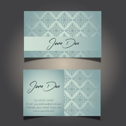 decorative business card design 0906