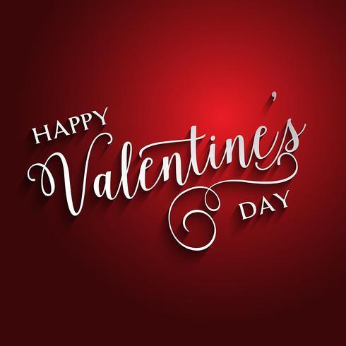 Dekorativ Valentinsdag textdesign